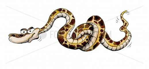 Boese Schlange mit Knoten