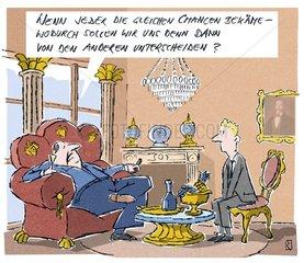 Cartoon Reicher Mann