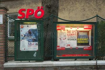 Schaukasten der SPOe in Wien