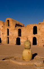 Old ancient Berber village in Ksar in Metameur near Djerba Tunisia Africa