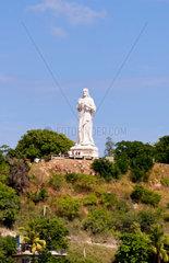 Statue of Christ statue overlooking ther city of Havana Cuba