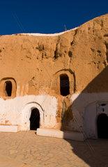 Berber Lifestyle Village Matmata Tunisia cave house in mountain Africa