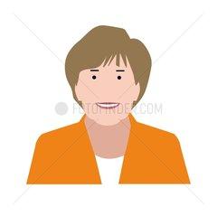 Angela Merkel Serie Emojis Mimik