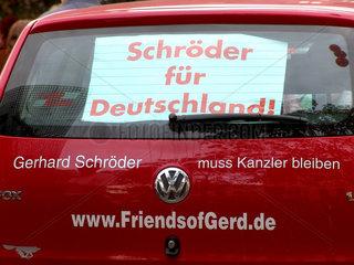 Volkswagen  Wahlkampf Gerhard Schroeder