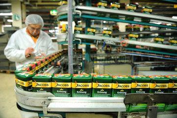 Berlin  Deutschland  Roestkaffee-Produktionsanlage im Kraft Foods Werk
