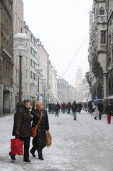 Wintereinbruch in Muenchen