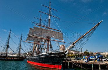 Star of India historic ship at dock in San Diego Bay  California
