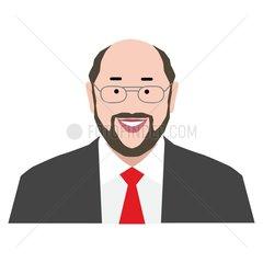 Martin Schulz Serie Emojis Mimik