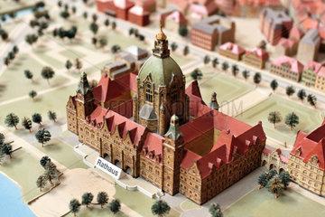 Hannover  Deutschland  Modell der Stadt Hannover im Jahr 1939 mit dem Neuen Rathaus