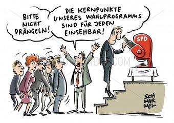 Wahlprogramm SPD beschliesst Programm fuer mehr Gerechtigkeit