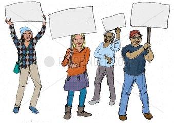 Protestaktion Demonstranten 1