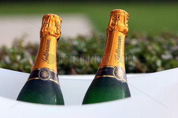 Iffezheim  Deutschland  Champagnerflaschen der Marke Geldermann