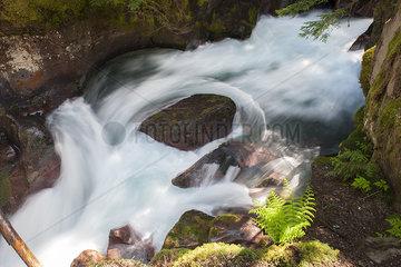 White water rushing over rocks