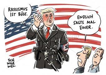 Nach Aeusserungen zu Charlottesville : Empoerung nach Trumps Schlingerkurs