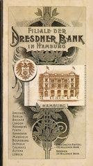 Filiale der Dresdner Bank  Hamburg  Werbebroschuere  1899