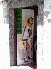 Madeira: Strassenkunst in der Altstadt von Funchal