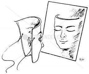 Maske mit Spielgelbild