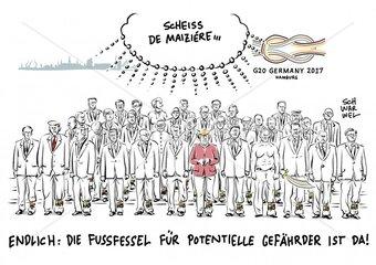 Nach G20-Ausschreitungen : De Maizière fordert notfalls Fussfesseln
