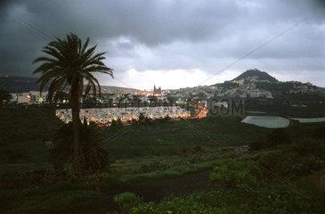 Moya  Gran Canaria  Spanien  Uebersichtsaufnahme des Ortes