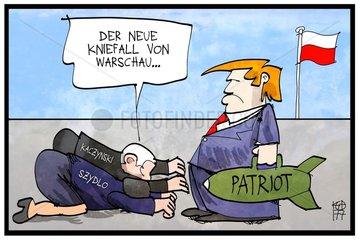 Kniefall vor Trump in Warschau