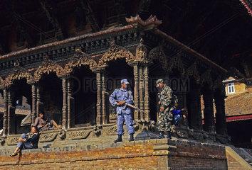 Militaer in Kathmandu  Nepal