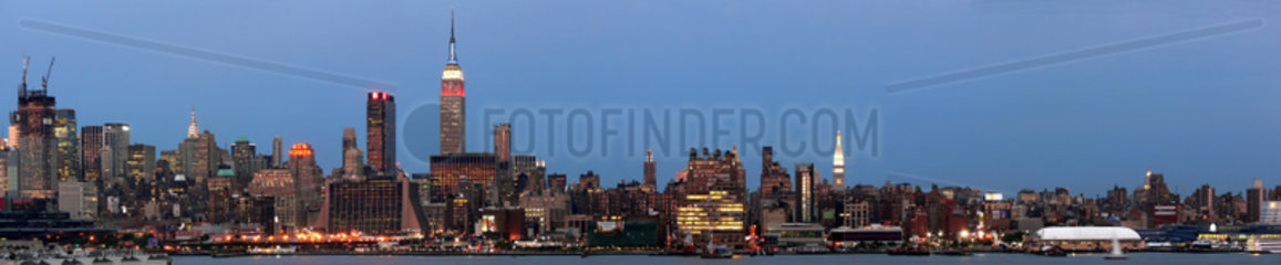 Abendliches Manhatten-Panorama
