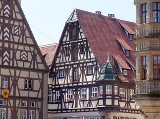 Fachwerkhaeuser  Rothenburg ob der Tauber