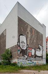 Berlin  Deutschland  Brandmauern eines alleinstehenden Altbaus