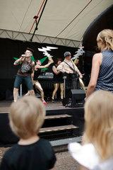 Berlin  Deutschland  Hip Hop Band  die auf der Wedding Dress 4 spielt