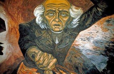 Portrait von Miguel Hidalgo von Clemento Orozco