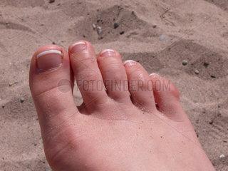 Fuss im Sand