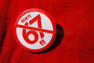 Sticker gegen Rente mit 67
