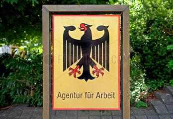 Eingangschild Agentur fuer Arbeit in Wuppertal