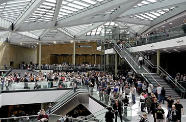 Probelauf fuer das World Conference Center Bonn WCC