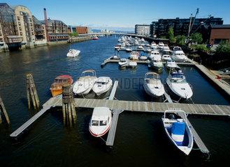 Trondheim  Norwegen  Motorboote