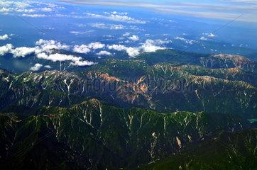 Luftaufnahme Hidagebirge nahe Nagoya