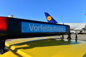 Vorfeldaufsicht am Frankfurter Flughafen