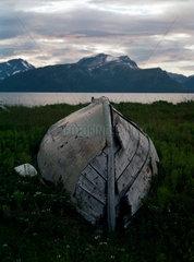 Skittenelv  Norwegen  Kueste von Groettsundet