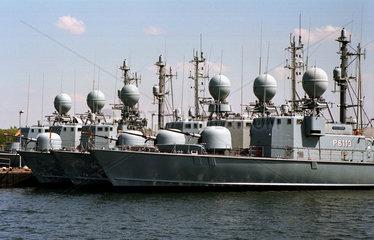 Warnemuende  die Schnellbootflotte der Bundesmarine