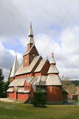 Stabkirche Goslar Hahnenklee  Niedersachsen  Deutschland  Europa