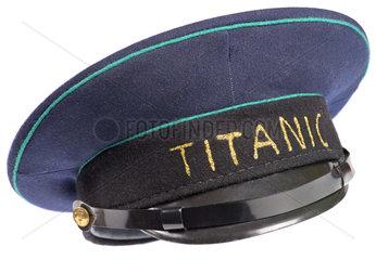 alte Uniformmuetze Titanic  Symbol  Humor  um 1963