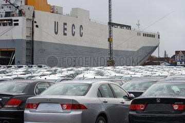 Bremerhaven  Deutschland  Neuwagen der Marke HONDA