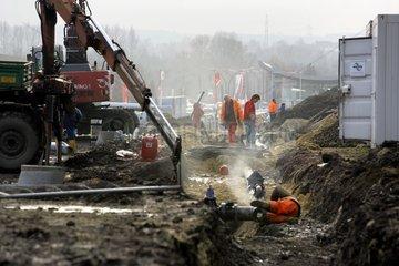 Baustelle auf dem Gelaende des ehemaligen Hochofenwerks Phoenix-West in Dortmund