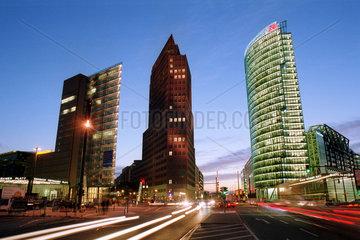 Berlin  Deutschland  Hochhaeuser am Potsdamer Platz