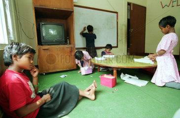 Maedchen im Haus der Hilfsorganisation CWIN in Nepal