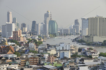 Panorama ueber Chinatown  Bangkok