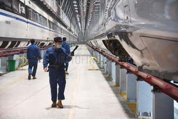 CHINA-SHANDONG-HIGH SPEED TRAIN-MAINTENANCE (CN)
