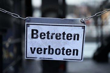 Betreten Verboten-Schild