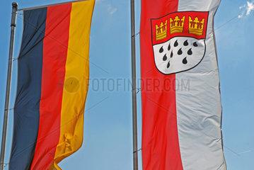 Deutsche und Koelner Fahne