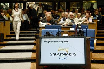 SolarWorld AG  Hauptversammlung 2008  Bonn